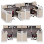 Herman Miller Action Office System v11 3d model