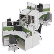 Herman Miller Action Office System v13 3d model