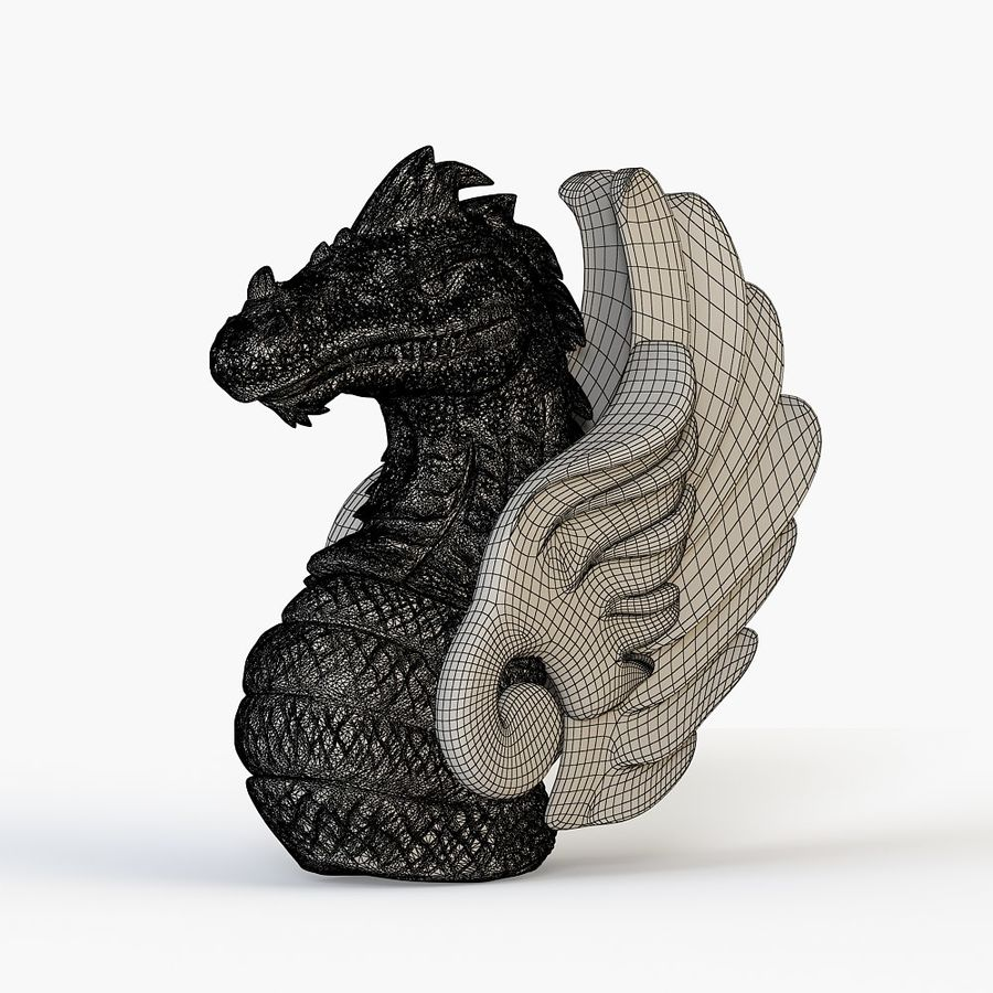 Dragon bust royalty-free 3d model - Preview no. 5