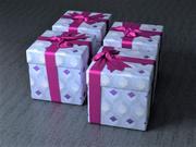 礼品盒 3d model