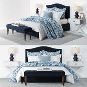 Pottery Barn - Raleigh Blue Bed 3d model