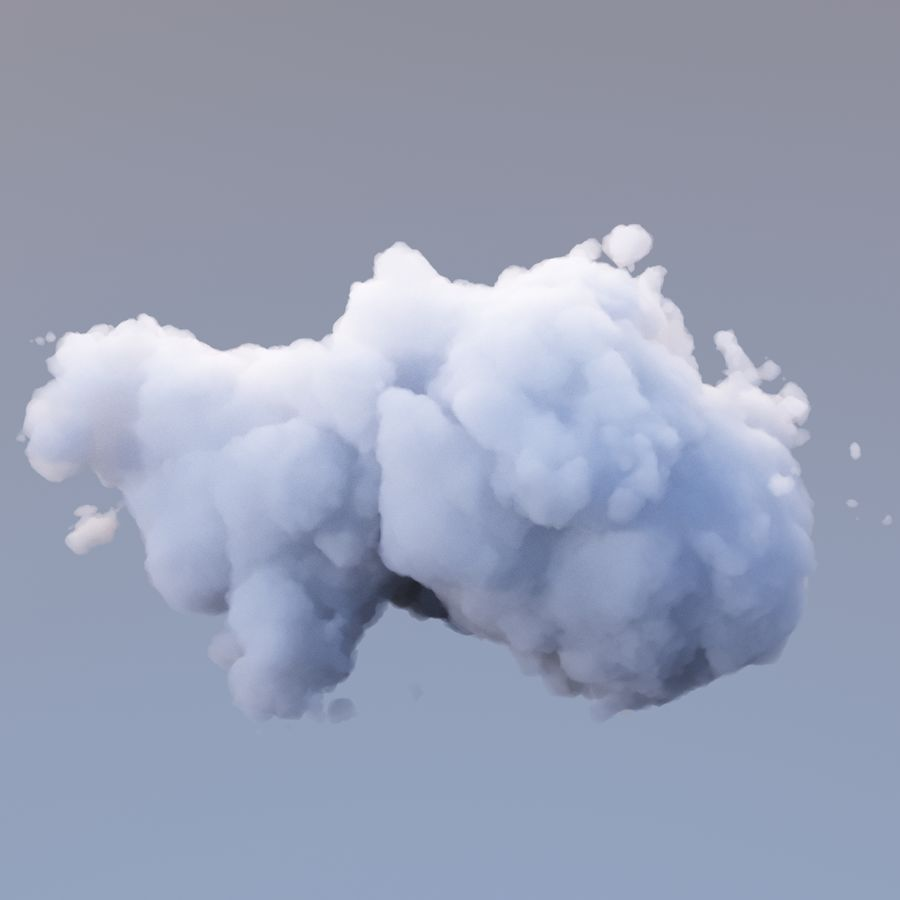 Polygon Cloud Pack royalty-free 3d model - Preview no. 17