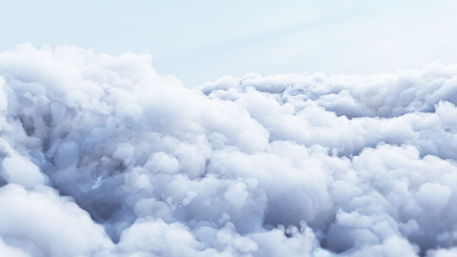 Polygon Cloud Pack royalty-free 3d model - Preview no. 1