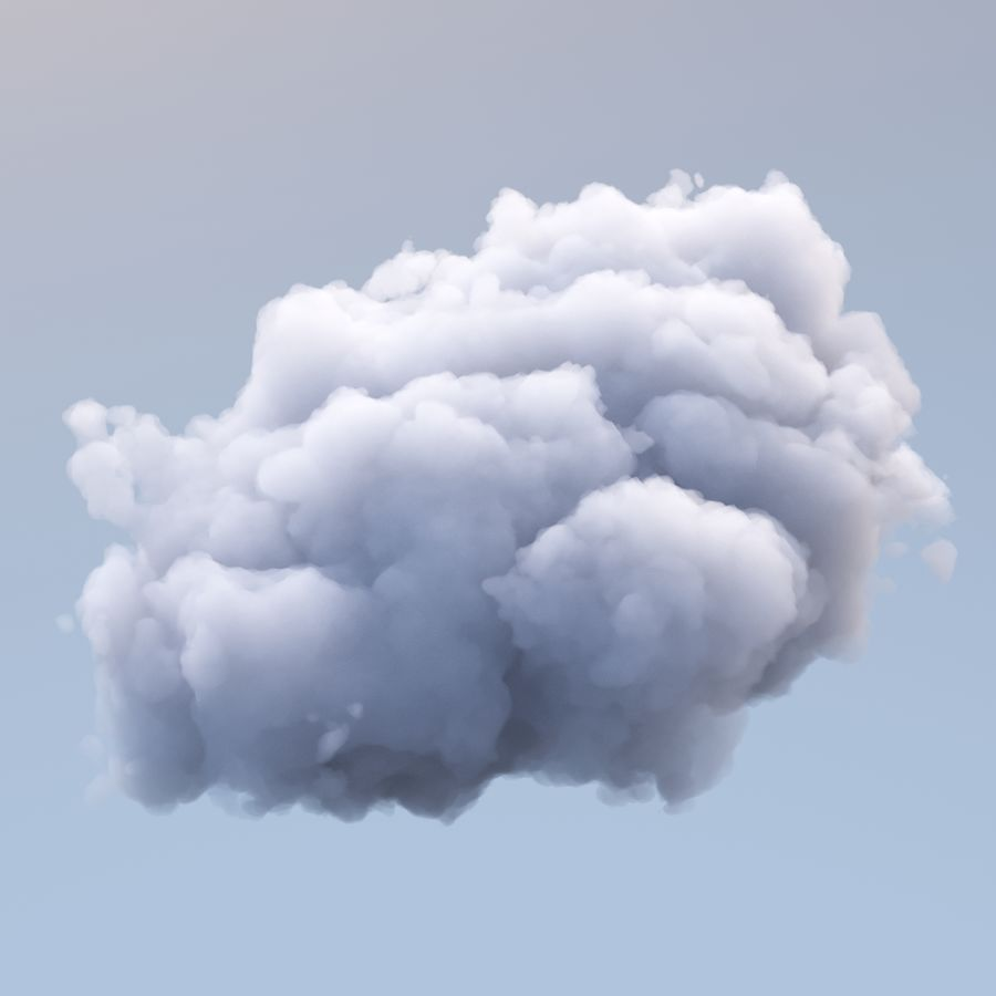 Polygon Cloud Pack royalty-free 3d model - Preview no. 5