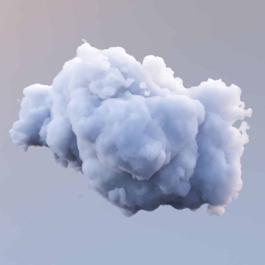 Polygon Cloud Pack royalty-free 3d model - Preview no. 11