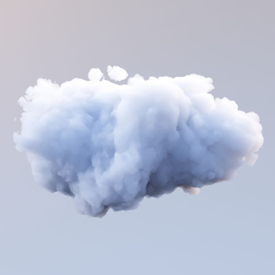 Polygon Cloud Pack royalty-free 3d model - Preview no. 10