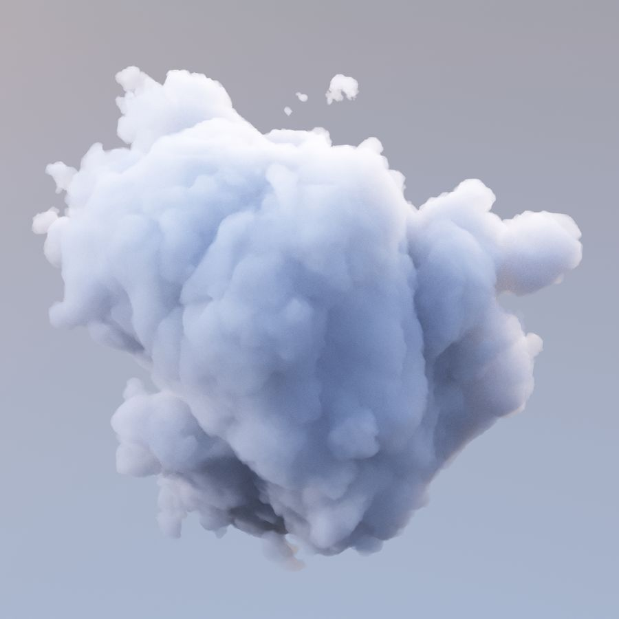 Polygon Cloud Pack royalty-free 3d model - Preview no. 13