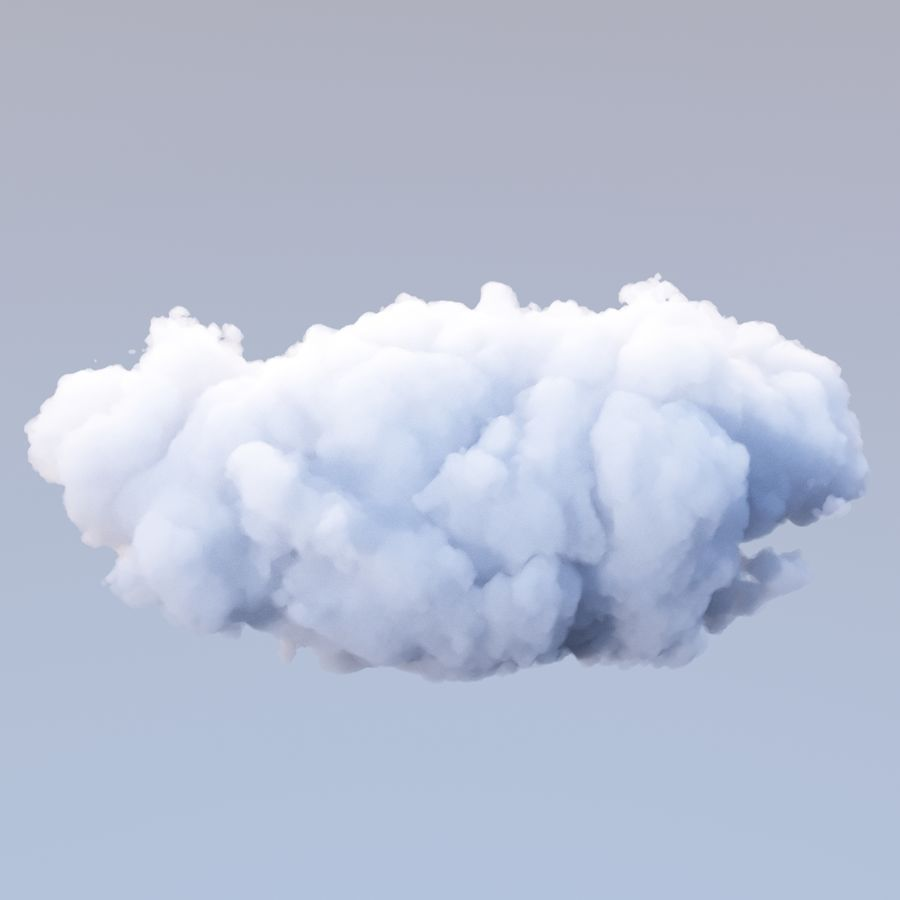 Polygon Cloud Pack royalty-free 3d model - Preview no. 19