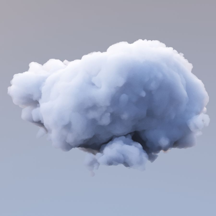 Polygon Cloud Pack royalty-free 3d model - Preview no. 15