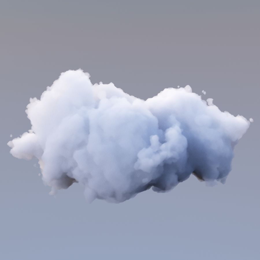 Polygon Cloud Pack royalty-free 3d model - Preview no. 20