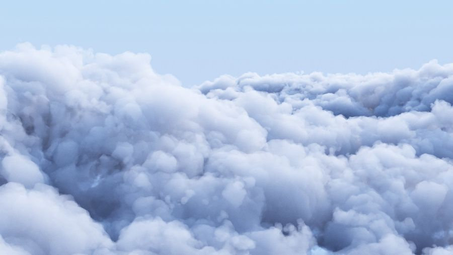 Polygon Cloud Pack royalty-free 3d model - Preview no. 2