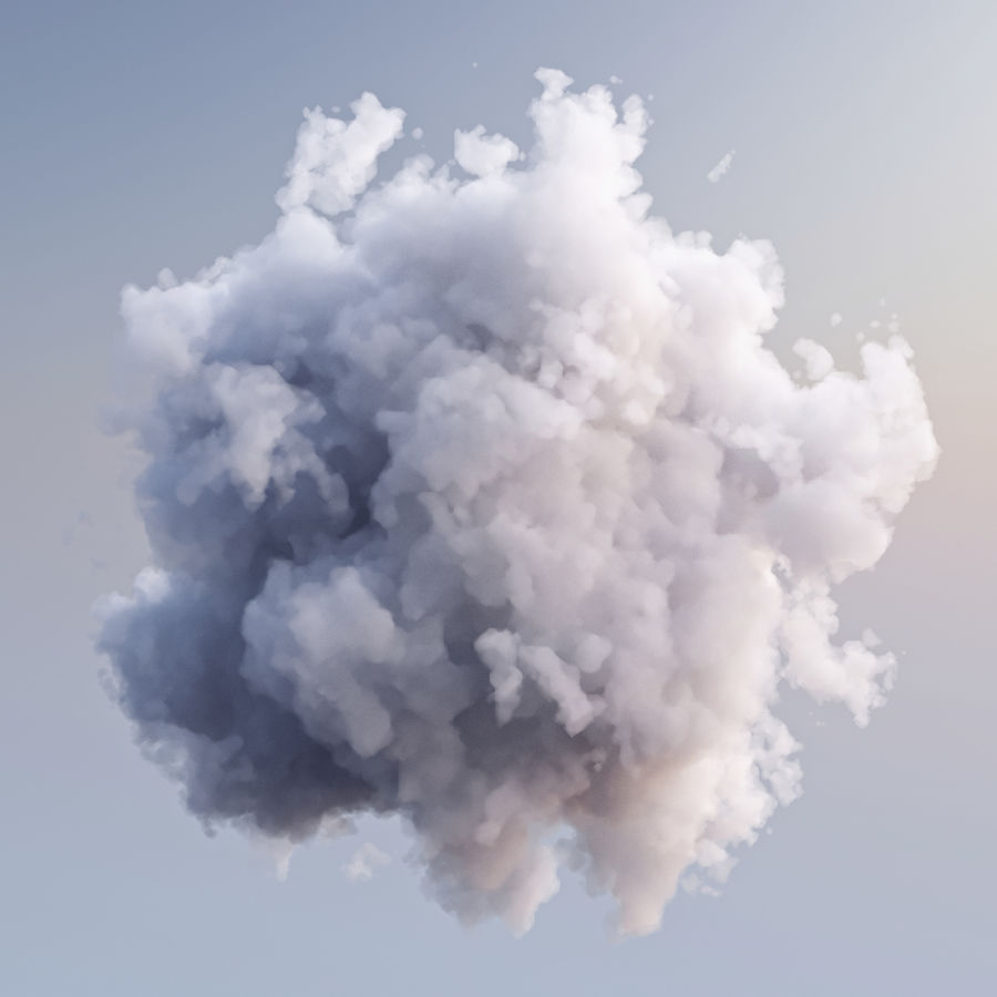 Polygon Cloud Pack royalty-free 3d model - Preview no. 8