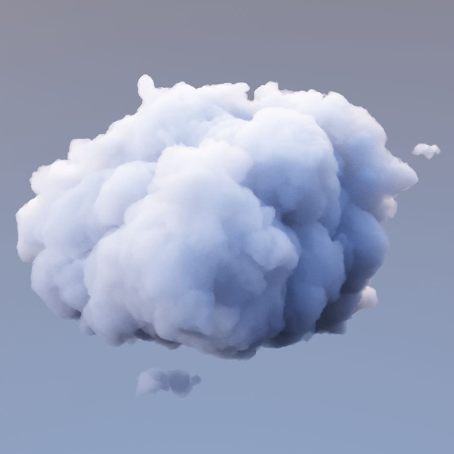 Polygon Cloud Pack royalty-free 3d model - Preview no. 16