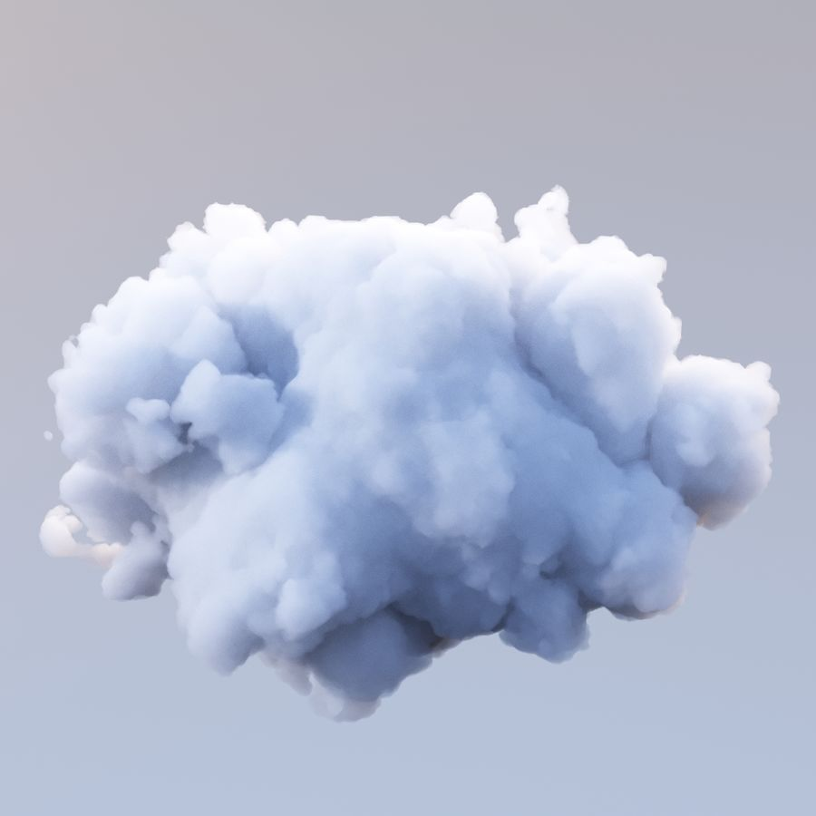 Polygon Cloud Pack royalty-free 3d model - Preview no. 14