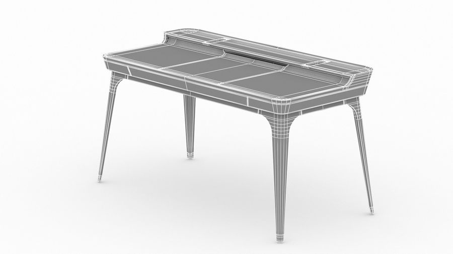 Bureau Herman Miller Airia royalty-free 3d model - Preview no. 32