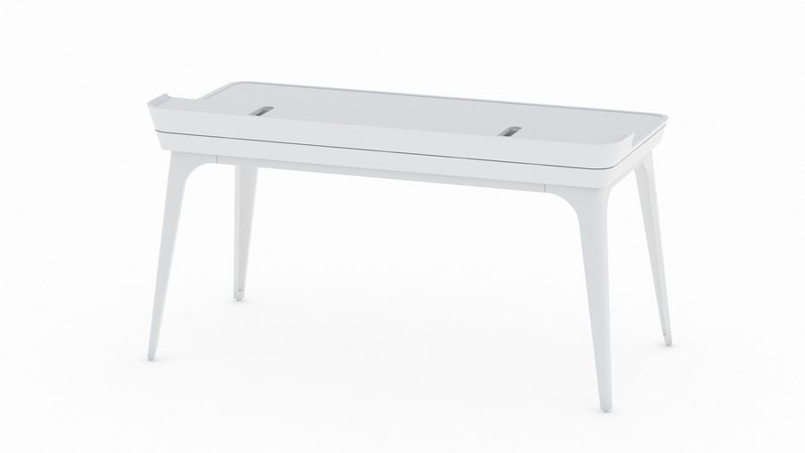Bureau Herman Miller Airia royalty-free 3d model - Preview no. 9