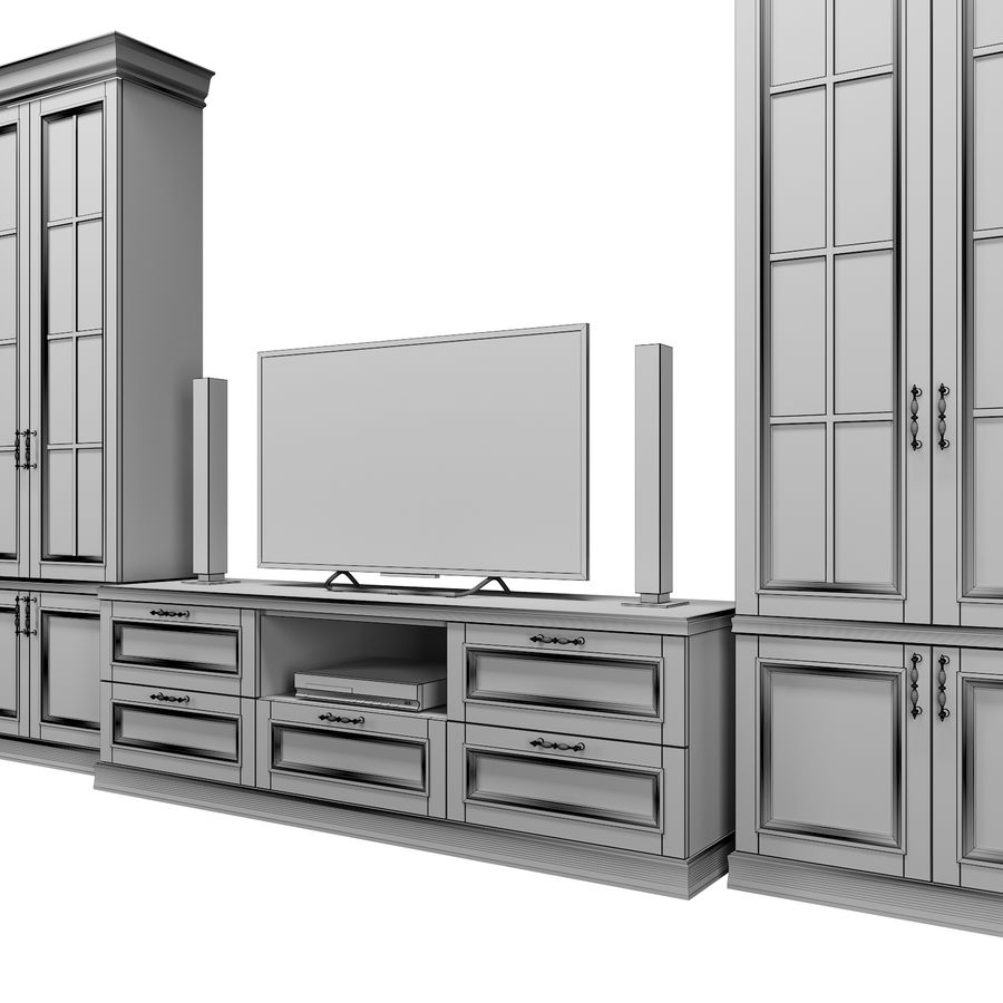 Woonkamer set royalty-free 3d model - Preview no. 9