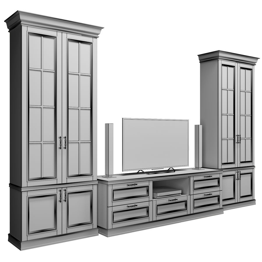 Zestaw do salonu royalty-free 3d model - Preview no. 8