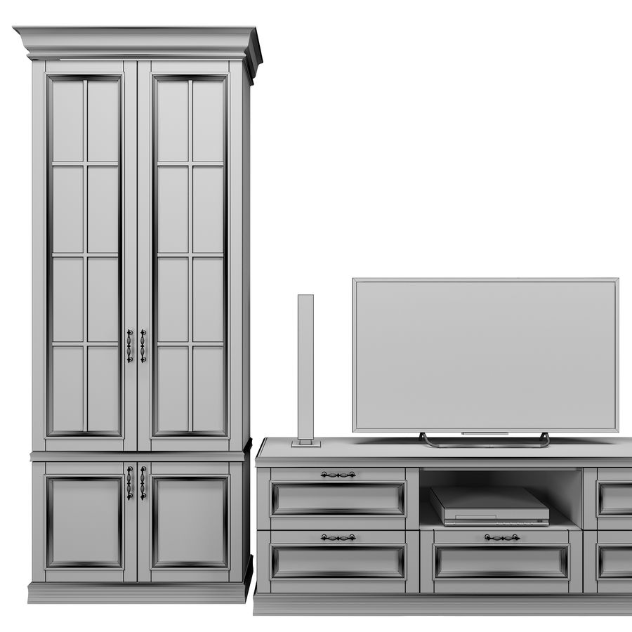 Woonkamer set royalty-free 3d model - Preview no. 10