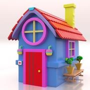 Cute Toy House 001 3d model