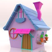 Cute Toy House 002 3d model