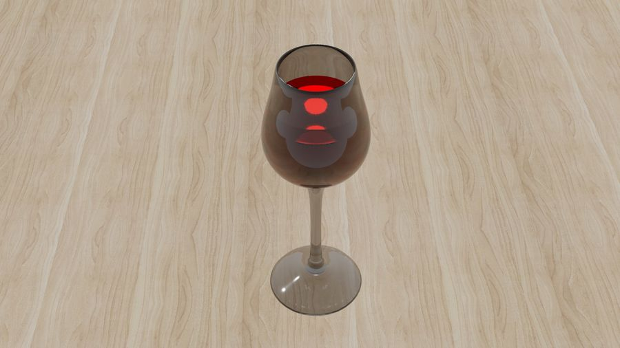 Glass of wine royalty-free 3d model - Preview no. 4