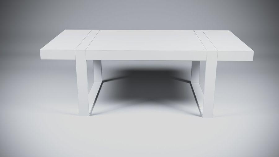 Деревянный Современный Стол royalty-free 3d model - Preview no. 5