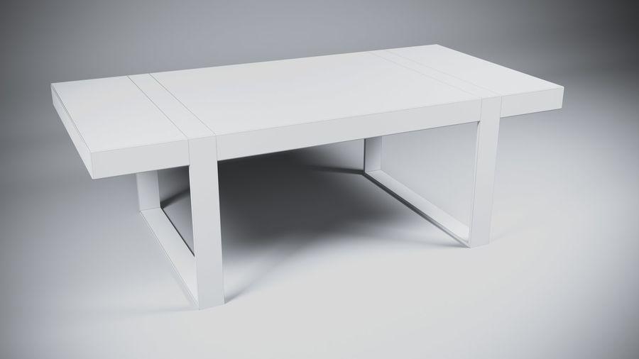 Деревянный Современный Стол royalty-free 3d model - Preview no. 4