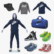 Nike Sport Clothes Collection 3d model