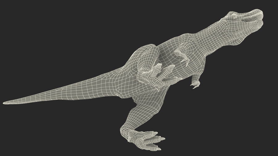 Tyrannosaurus Rex Skeleton Fossil with Skin Walking Pose royalty-free 3d model - Preview no. 30