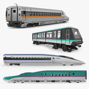 Passenger Train Locomotives Collection 3d model