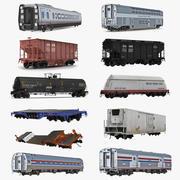 Coleção de vagões ferroviários 2 3d model