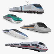 Kolekcja pociągów prędkości 3 3d model