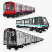 Subway Trains Collection 2 3d model