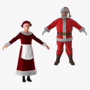 Collection Mr et Mme Claus 3d model