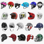 Sport Helmets Collection 5 3d model