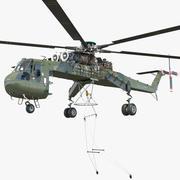 重型直升机Sikorsky S-64 Skycrane索具 3d model