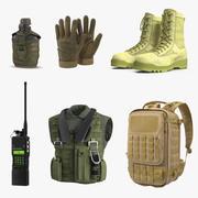 Коллекция военных вещей 3d model