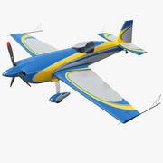 Extra Jednopłat akrobacyjny EA300 Niebiesko-żółty 3d model