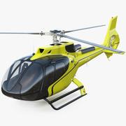 Helicóptero civil leve equipado 3d model