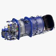 涡轮轴发动机 3d model
