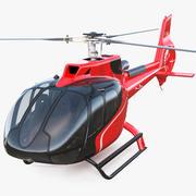 Helicóptero Civil Airbus H130 3d model