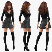 Maya İçin Arma Genç Kız Çocuk Giysileri 3d model