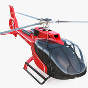 Helicóptero civil Airbus H130 equipado 3d model