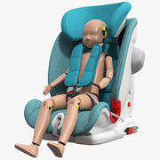 Manekin do testów zderzeniowych dziecka w foteliku 3d model