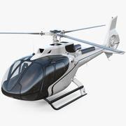 Helicóptero Civil Leve 3d model