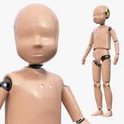 Manichino per crash test per bambini attrezzato 3d model