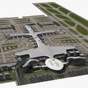 Infrastruktura lotniska 3d model