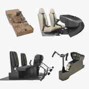 Helicopter Control Panels Collection 3 3d model