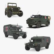 軍用救急車コレクション 3d model
